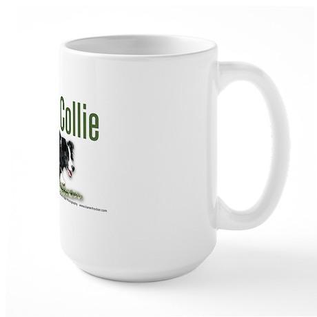 Creeping Border Collie Large Mug