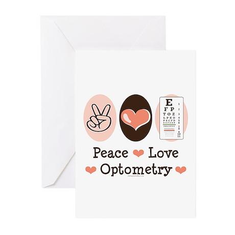 Peace Love Optometry Eye Chart Blank Cards 10 Pk