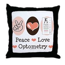 Peace Love Optometry Eye Chart Throw Pillow