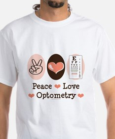 Peace Love Optometry Eye Chart Shirt