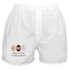 Peace Love Optometry Eye Chart Boxer Shorts