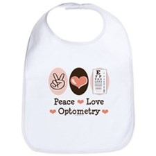 Peace Love Optometry Eye Chart Bib