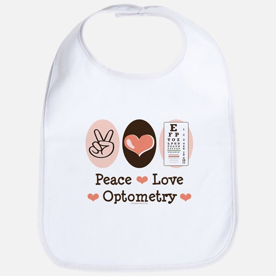 Peace Love Optometry Eye Chart Bib
