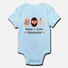 Peace Love Optometry Eye Chart Infant Bodysuit