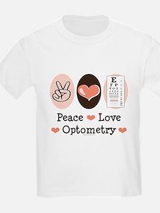 Peace Love Optometry Eye Chart T-Shirt