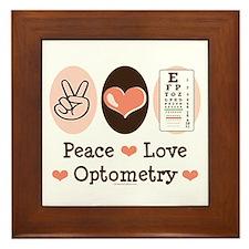 Peace Love Optometry Eye Chart Framed Tile