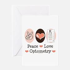 Peace Love Optometry Eye Chart Greeting Card