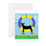Agility Doberman Pinscher Greeting Cards (Pk of 20