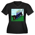 An Agility Dachshund? Women's Plus Size V-Neck Dar