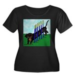 An Agility Dachshund? Women's Plus Size Scoop Neck