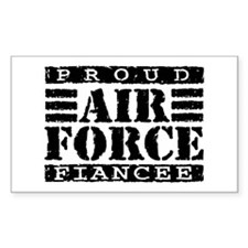Proud Air Force Fiancee Rectangle Decal