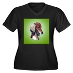 Saluki Women's Plus Size V-Neck Dark T-Shirt
