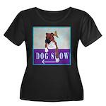 Boxer Puppy Women's Plus Size Scoop Neck Dark T-Sh