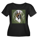BOXERS Women's Plus Size Scoop Neck Dark T-Shirt