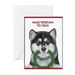 Malamute and sled team Greeting Cards (Pk of 20)