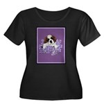 St. Bernard Puppy with flower Women's Plus Size Sc