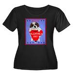 Valentine Saint Bernard Women's Plus Size Scoop Ne