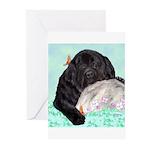Sleepy Newfoundland Puppy Greeting Cards (Pk of 20