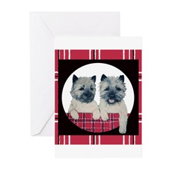 Cairn Terrier Pair Greeting Cards (Pk of 20)
