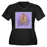 Yorkshire Terrier - YORKIE Women's Plus Size V-Nec