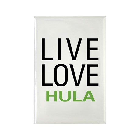 Live Love Hula Rectangle Magnet