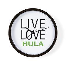 Live Love Hula Wall Clock