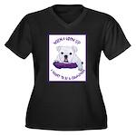 English Bulldog Puppy Women's Plus Size V-Neck Dar