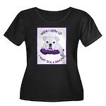English Bulldog Puppy Women's Plus Size Scoop Neck