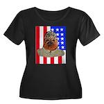 Bullldog Marine Women's Plus Size Scoop Neck Dark