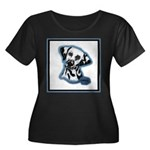 Dalmatian Head Study Women's Plus Size Scoop Neck