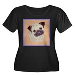 Typical Chinese Pug Women's Plus Size Scoop Neck D