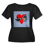 Australian Cattle Dog Kiss Women's Plus Size Scoop