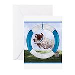 Agility German Shorthair Poin Greeting Cards (Pk o