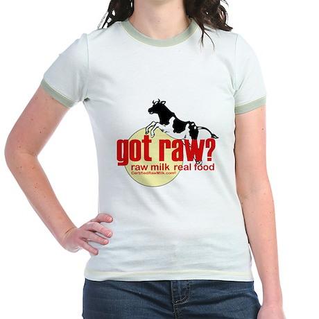 Raw Milk, Real Food Jr. Ringer T-Shirt