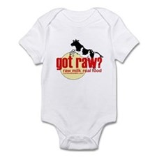 Raw Milk, Real Food Infant Bodysuit
