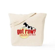 Raw Milk, Real Food Tote Bag