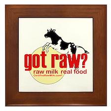 Raw Milk, Real Food Framed Tile