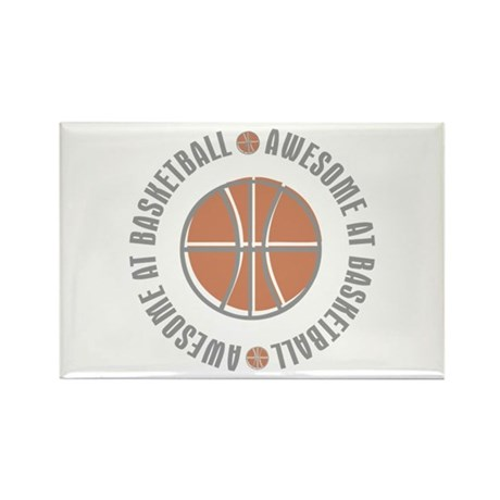 Awesome at Basketball Rectangle Magnet (100 pack)