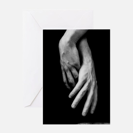 Hands Intertwined Greeting Cards