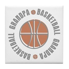 Basketball Grandpa Tile Coaster