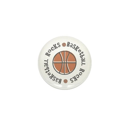 Basketball Rocks Mini Button (10 pack)
