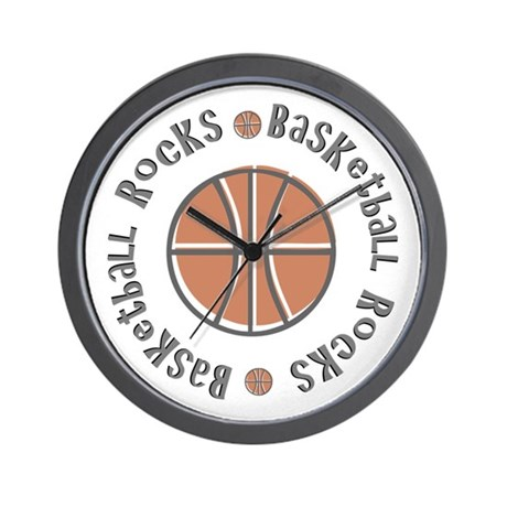 Basketball Rocks Wall Clock