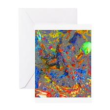 Jeweled Frog Greeting Card