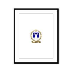DUBEY Family Crest Framed Panel Print