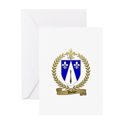 DUBEY Family Crest Greeting Card