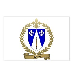 DUBEY Family Crest Postcards (Package of 8)