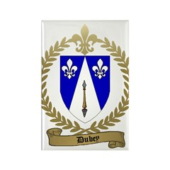 DUBEY Family Crest Rectangle Magnet (10 pack)