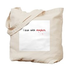 I run with Vampires Tote Bag