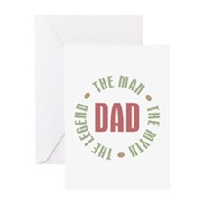 Dad Man Myth Legend Greeting Card