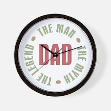 Dad Man Myth Legend Wall Clock